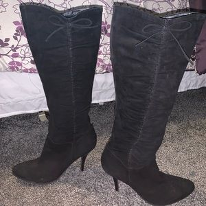Women's Knee-High Enzo Angiolini Black Boot, 8.5
